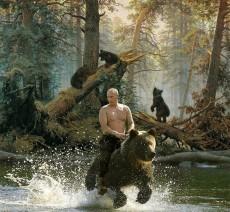 Putin on bear
