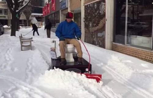 «Туалетомобиль» — снегоуборщик