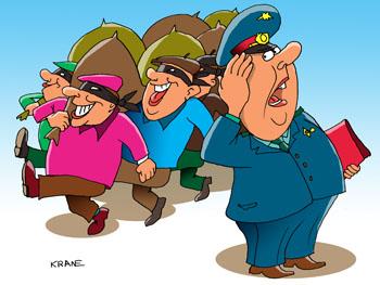 Карикатура о преступности