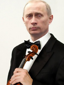putin un violin