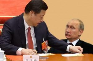 путин и большой китаец